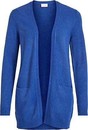 Vila Womens VIRIL L/S Open Knit Cardigan-NOOS Sweater, Mazarine Blue, Detail:Melange, XL