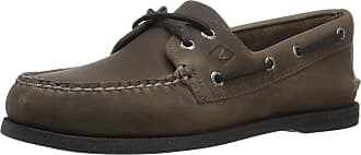 Sperry Top-Sider Mens A/O 2-Eye Pullup Boat Shoe, Grey, 11.5 M US