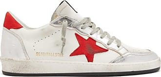 Golden Goose Ball Star Leather Trainers - Mens - White Multi