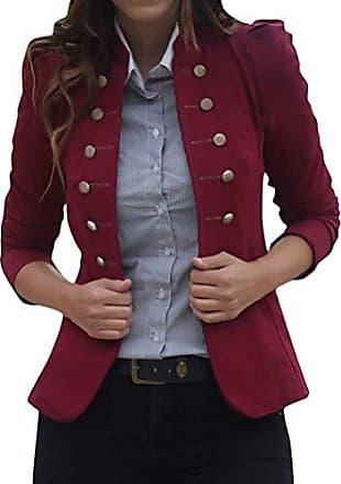 Damen Lang Blazer Anzug Jacke Slim Fit Mantel Freizeit Strickjacke Outwear Top