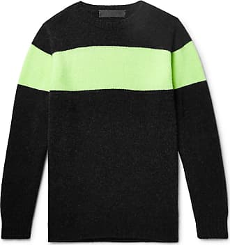 The Elder Statesman Striped Cashmere Sweater - Charcoal