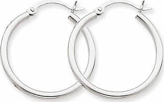 Quality Gold 14kt White Gold Lightweight Hoop Earrings