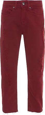 Canal Calça Reta Cropped Color - Vermelho