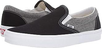 1d695acc5d Vans Classic Slip-Ontm ((Chambray) Canvas Black True White) Skate
