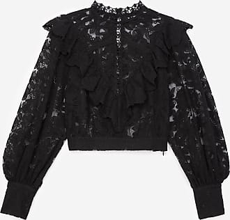 The Kooples Black lace top with panel - WOMEN