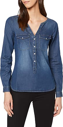 Jacqueline de Yong Womens JDYWYRE L/S Placket Shirt WVN NOOS, Blue (Medium Denim Blue), 14