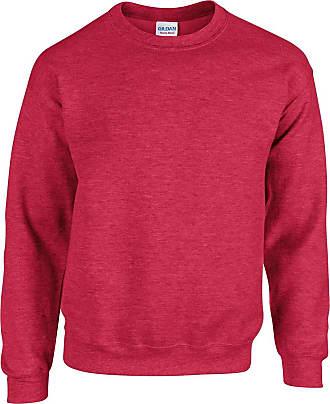 Gildan Mens Heavy Blend Sweatshirt Heather Sport Scarlet Red XXL