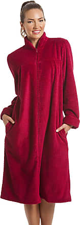 Camille Soft Fleece Ruby Red Zip Front House Coat 18/20