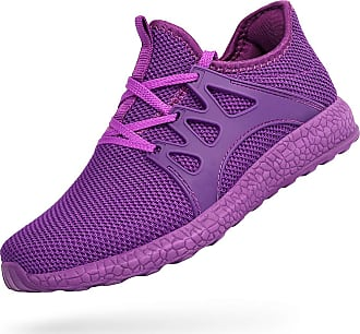 Zocavia Men Women Trainers Lightweight Running Sports Shoes Outdoor Non Slip Walking Gym Fitness Athletic Shoes Purple