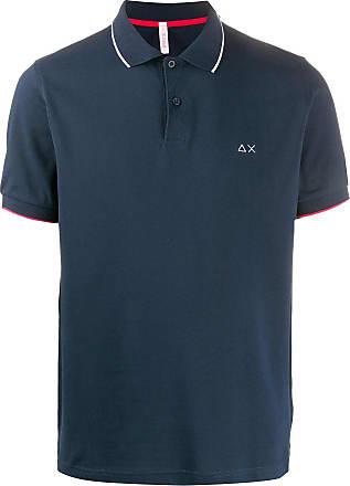 Sun 68 Poloshirt mit Logo-Stickerei - Blau
