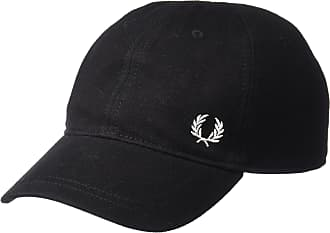 Fred Perry Mens Pique Classic Cap Baseball Cap - Black