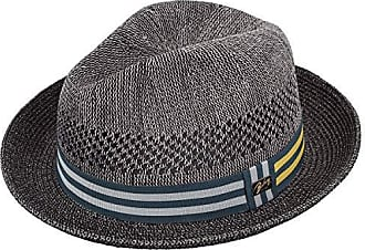 3a3363147c969 Bailey Mens Berle Fedora Trilby Hat with Striped Band