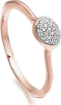Monica Vinader Nura Mini Teardrop Diamond Stacking ring - PINK