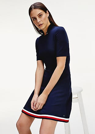 Tommy Hilfiger Sale Fit-and-Flare-Kleid mit Tommy-Tape
