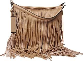 GFM Faux Leather Tassel Bag (F1618-STN-00) With Soft Fringes Tassels on Both Sides Shoulder bag (F1618-STN-00)