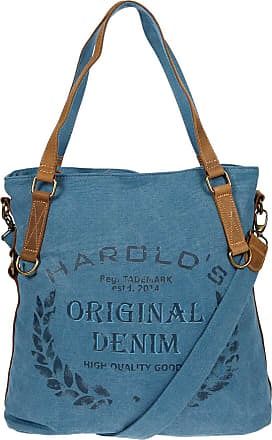 Harold/'s XL Canvas Damen Handtasche Leder Schultertasche Umhängetasche Tasche
