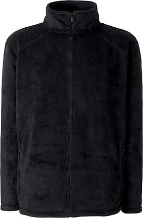 Fruit Of The Loom Womens/Ladies Lady-Fit Full Zip Fleece Jacket (2XL) (Black)