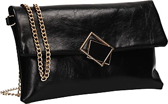 Swankyswans Callie Smart Faux Leather Womens Party Night Out Evening Clutch Bag Black