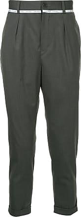 Yoshiokubo cropped tailored trousers - Grey
