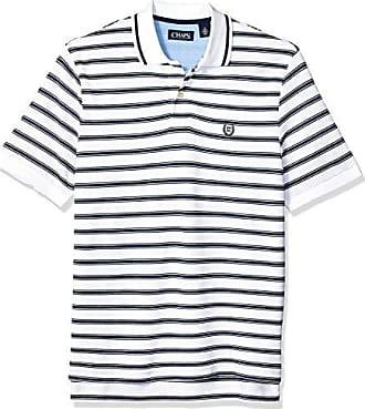 8822234687c Chaps Mens Classic Fit Striped Cotton Mesh Polo Shirt, White Multi, XL