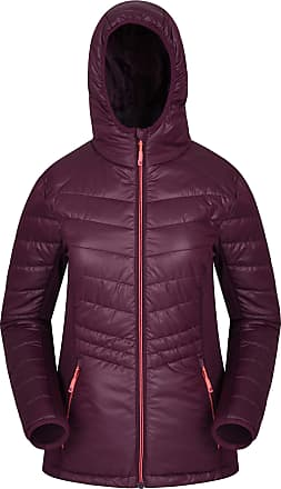 Mountain Warehouse Turbine Womens Padded Softshell - Lightweight Padding Ladies Shell Jacket, Softshell Stretch Panels, Flexible - for Travelling, Camping Burgundy 16
