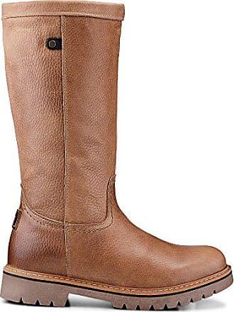 Cox Damen Damen Winter-Stiefel aus Leder, Stiefeletten in Braun mit weichem  Warmfutter braun 545690b4d3