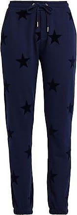 Zoe Karssen Zoe Karssen Woman Flocked French Cotton-terry Track Pants Navy Size XS