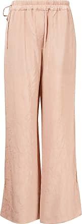 Acne Studios Hose mit geradem Bein und Knittereffekt Rosé