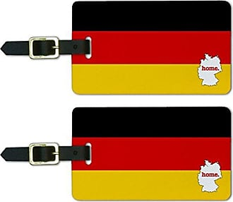 Graphics & More Graphics & More Germany Home Country Luggage Suitcase Id Tags-Flag, White