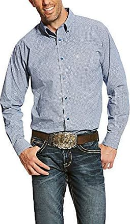 Ariat Mens Fitted Long Sleeve Shirt, Adell Royal Sapphire, XXL
