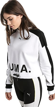 Puma Chase Womens Sweater Shirt, White, size X Large, Clothing