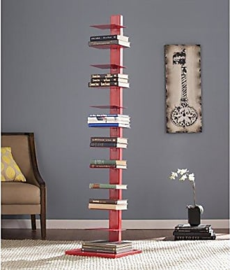 Southern Enterprises Spine Tower Shelf in Valiant Poppy