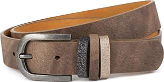 styleBREAKER women belt unicolour with glitter bow, adjustable 03010091, size:80cm, color:Brown