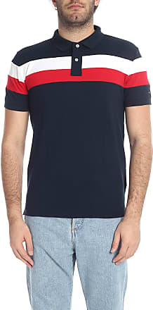 aa55d51a6 Tommy Hilfiger Dark blue polo shirt with white and red stripes