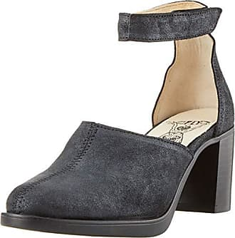 61681500 FLY London Sito448fly, Zapatos con Tacon y Correa de Tobillo para Mujer,  Negro (