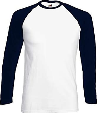Farbe:White//Royal;Gr/ö/ße:L Baseball T-Shirt