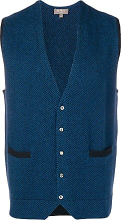 N.Peal knitted waistcoat - Blue