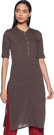 Aurelia Womens Cotton Straight Kurta (19AUA10900-700516_Brown_Medium)