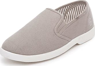Chums Mens Wide Fit Slip On Canvas Shoes Grey 11 UK