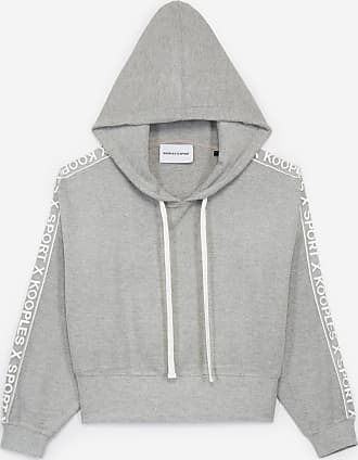 The Kooples Light grey hoodie with tulle insert - WOMEN