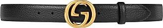 Gucci Cinto de couro com Interlocking G - Preto