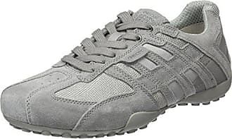 Geox Mens Snake 125 Sneaker, Light Grey, 39 M EU (6 US)