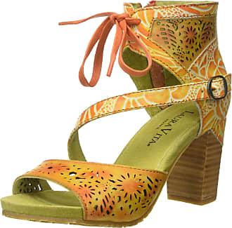 Laura Vita Womens Bernie 178 Ankle Strap Sandals, Orange, 7 UK