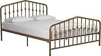 Dorel Home Products Novogratz Bushwick Metal Bed, Modern Design, Full Size - Gold