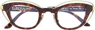 Kuboraum tortoiseshell cat-eye frame glasses - Brown