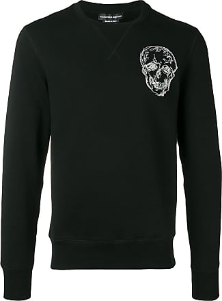 Alexander McQueen logo skull patch sweatshirt - Black