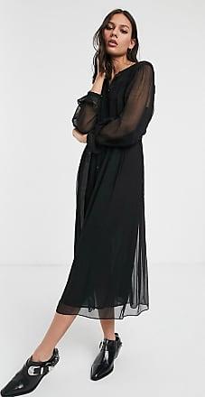 Whistles bethany belted midi dress-Black