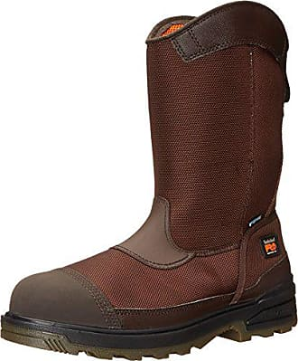 Timberland PRO Mens Mortar Pull-On CSA Comp Toe WP Work and Hunt Boot, Brown Ballistic Nylon, 12 M US