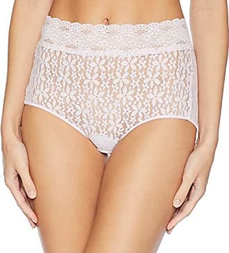 Wacoal Womens Halo Lace Brief Panty, Lilac Snow, L