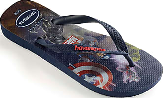 Havaianas Top Marvel, Unisex-Adult Flip Flops Flip Flops, Multicolour(Navy Blue), 11/12 UK (47/48 EU) (45/46 Brazilian)